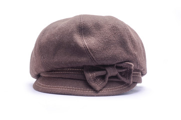 women's newsboy cap Isolated on white