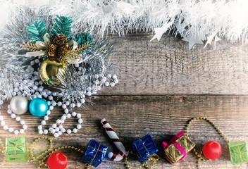 Christmas toys, gift boxes