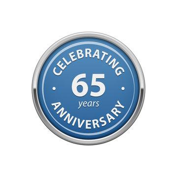 Celebrating anniversary 65 years badge