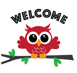 welcome a sweet little red owl
