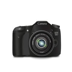"""""""black photocamera"""", lens, """"white background"""", """"isolated subject"""", photograp"""