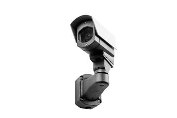 CCTV camera on the white background