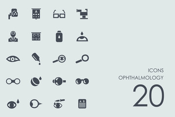 Set of ophthalmology icons