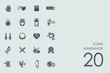 Set of handmade icons