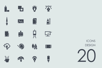Set of design icons