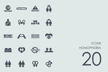 Set of homophobia icons