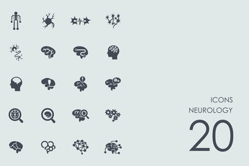 Set of neurology icons