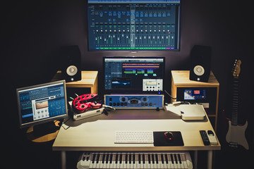 editing studio for TV broadcasting, spot ads, music recording, post production, film score composer
