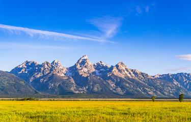 Grand Teton on sunny day,Grand Teton,Wyoming,usa. Wall mural