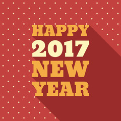 Happy New Year 2017 Retro Style text design