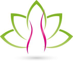 Logo, Frau, Mensch, Blätter, Heilpraktiker, Frauenarzt