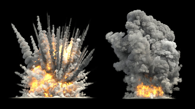 Big explosion on ground