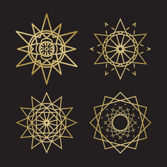 Sacred geometry ornament symbols