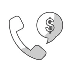 phone and money sign icon image vector illustration design