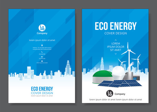 Eco energy cover design. Vector illustration