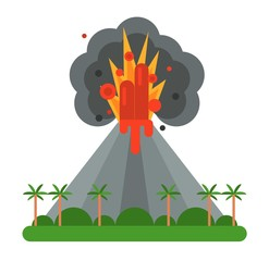 Volcano vector illustration.