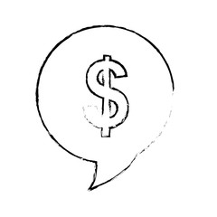 money sign icon image vector illustration design
