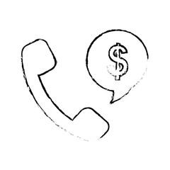 phone money sign icon image vector illustration design