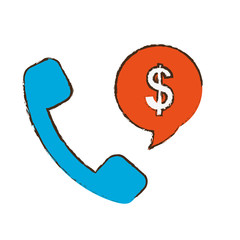 phone money sign icon image vector illustration design