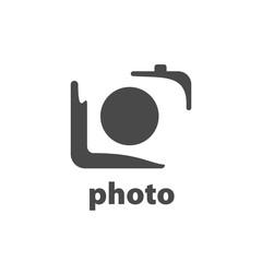 Vector logo camera