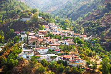 Small village in cyprus mountain.