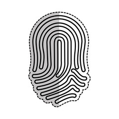finger print icon over white background. vector illustration