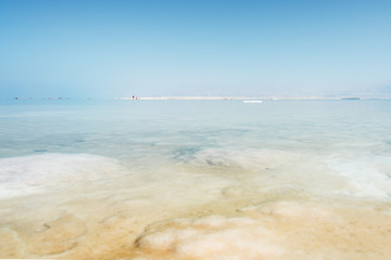 Salty Dead sea, Israel.