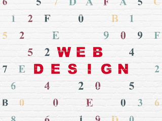 Web design concept: Web Design on wall background