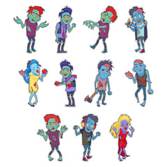 Zombie Fictional Undead Beings Fantastic Character