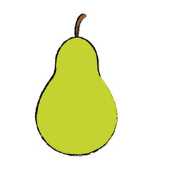 pear fruit icon image vector illustration design