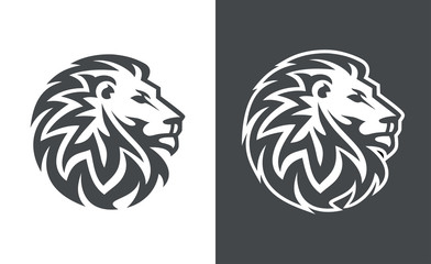 lion head vector logo design, abstract lion logo, tiger logo