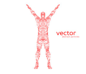 Abstract vector illustration of  man.