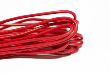 wire in red insulation