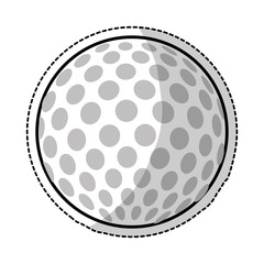 sticker of golf ball icon over white background. vector illustration