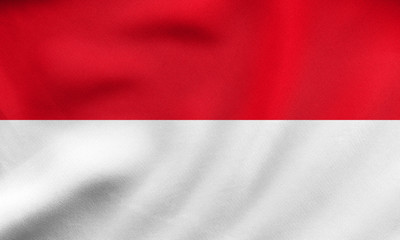 Flag of Indonesia, Monaco, Hesse, fabric texture
