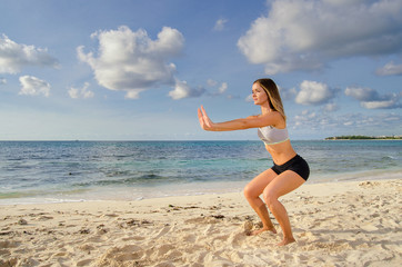 Girl workout leg