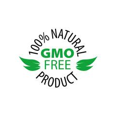 Vector logo gmo free