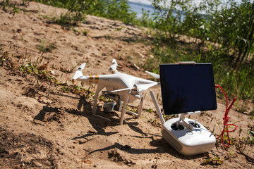 quadcopter in the beach
