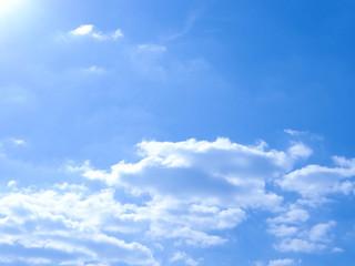 Beautiful clouds clear sky, fresh air.