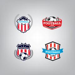 Soccer Logo Design Template set l Football badge team identity c
