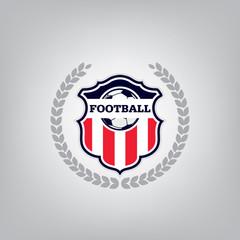 Soccer Logo Design Template, Football badge team identity, Soccer Football T-shirt graphic, Vector illustration