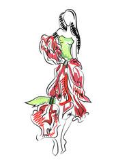 Decorative fashion illustration