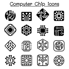 Computer Chips and Electronic Circuit icons