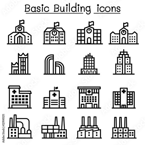 u0026quot basic building icon u0026quot  stock image and royalty