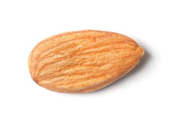 Single almond isolated