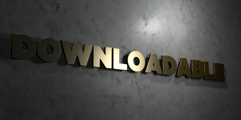 Downloadable - Gold text on black background - 3D rendered royalty free stock picture. This image can be used for an online website banner ad or a print postcard.