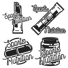 Vintage sports nutrution emblems