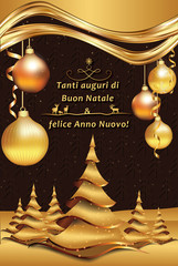 merry christmas and happy new year italian greeting card tanti auguri di buon - Merry Christmas And Happy New Year In Italian