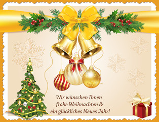 Greeting card for clients photos royalty free images graphics german greeting card for christmas and new year merry christmas and happy new year m4hsunfo