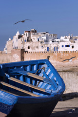 View of the Moroccan city of Essaouira